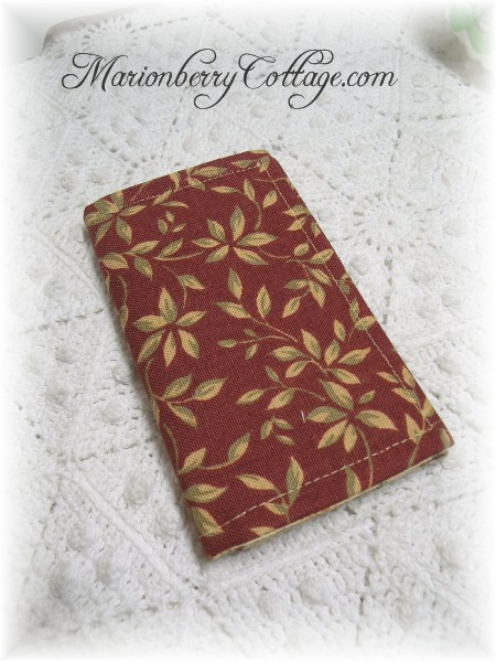 Credit Card or Business Card Case Cinnamon Spice