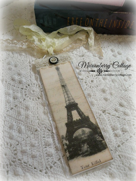 Inspirational Bookmark Vintage Eiffel Tower