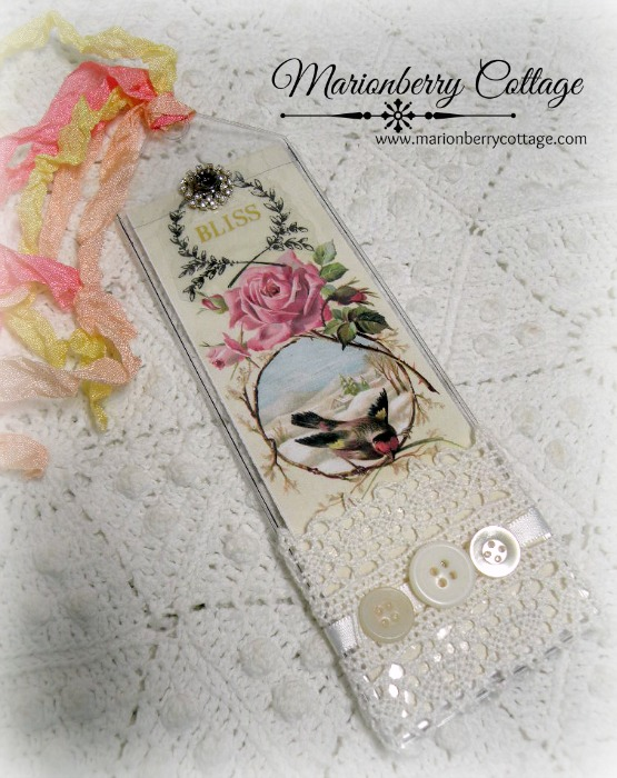 Pink rose BLISS bookmark