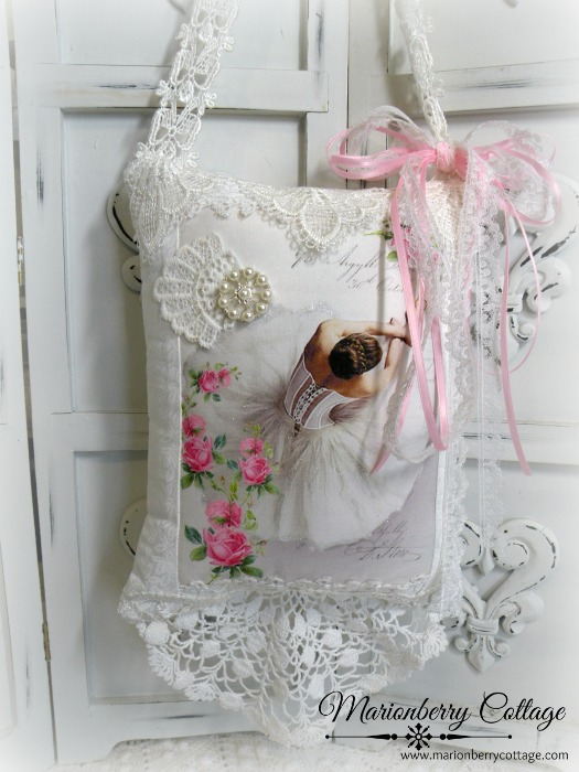 Vintage Ballerina KEEPSAKE Gift Pillow w/matching tag and sachet