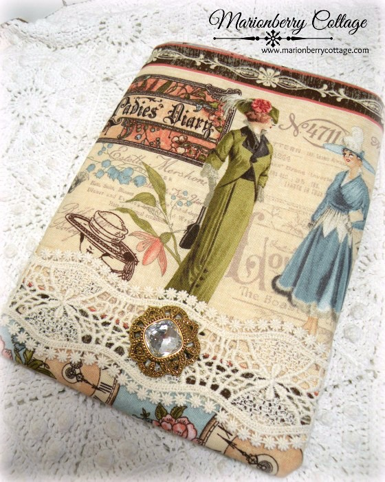 Kindle/tablet/Ipad mini Sleeve Victorian Ladies Dairy