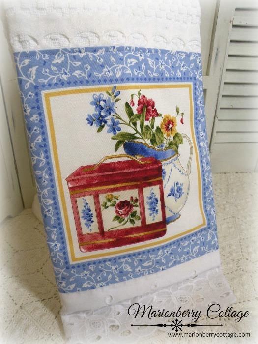 Tea Time Cottage Charm Kitchen towel