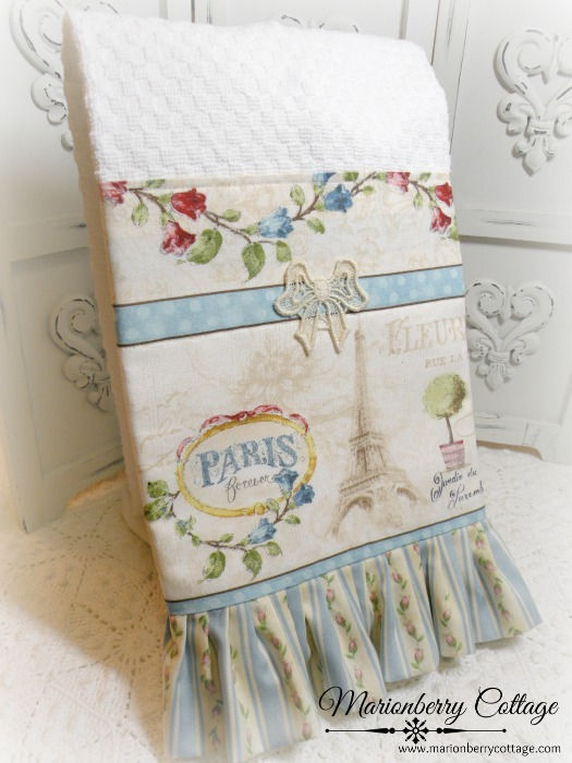 French Cottage Paris Kitchen towel