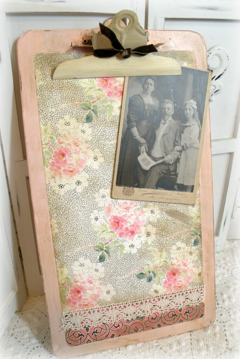Vintage cottage farmhouse clipboard wall art