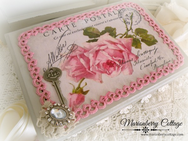 French Carte Postale and Roses Box