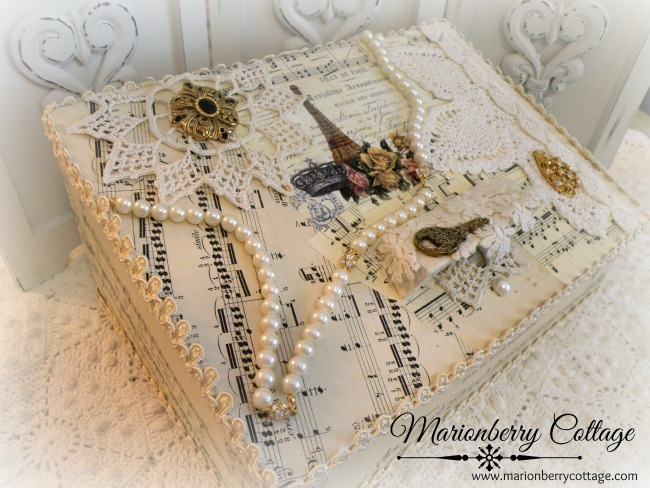 Ville de Paris Music Vintage Wedding Card box