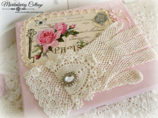 French Pink Postcard Glove Box