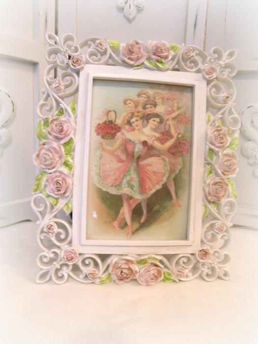Vintage Ballerina framed art