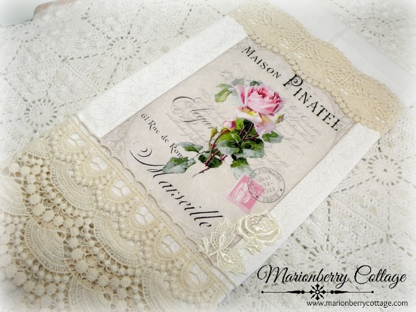 Guest Tea towel French pink rose