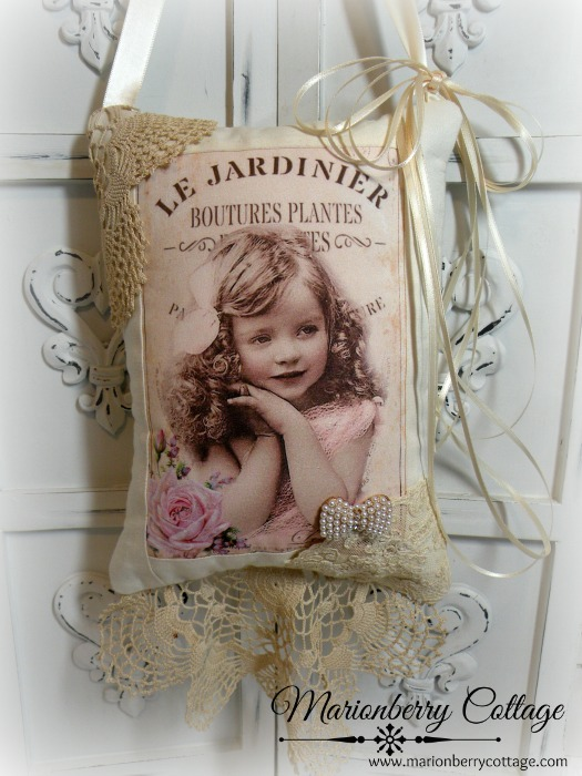 French Girl KEEPSAKE Gift Pillow w/matching tag and sachet