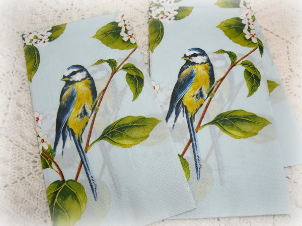 Blue Bird Luncheon/Dinner napkins