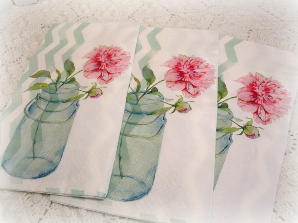 Fresh picked Peonies Luncheon/Dinner napkins