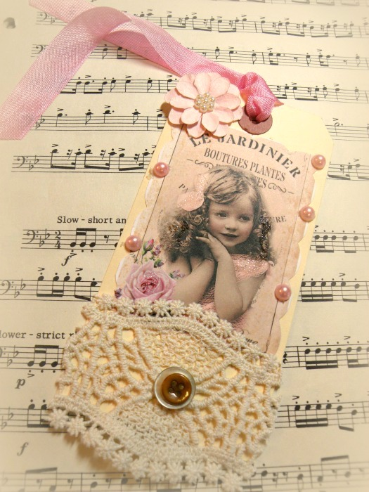 French Garden Gift tag