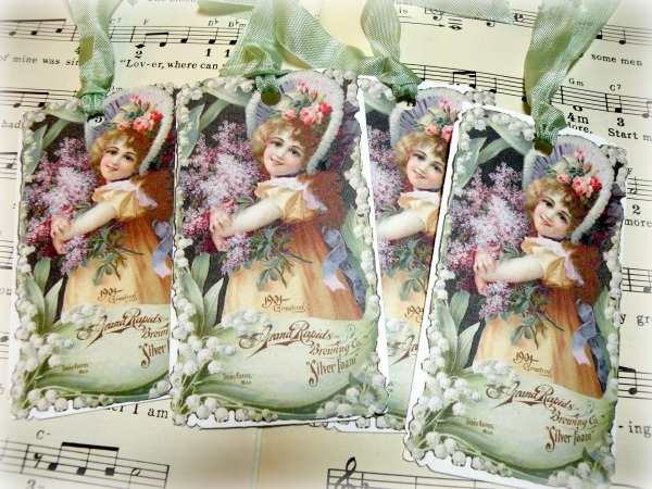 Gift tags Victorian Girls