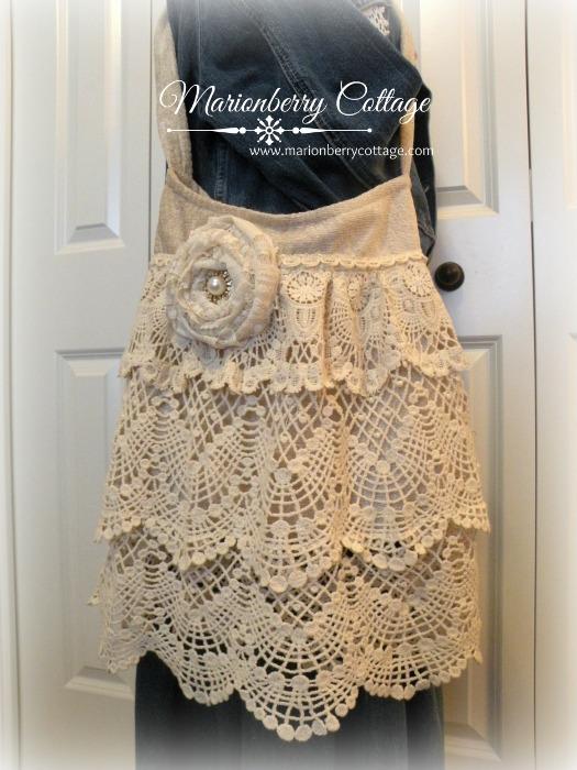 Gypsy Boho crochet lace handbag
