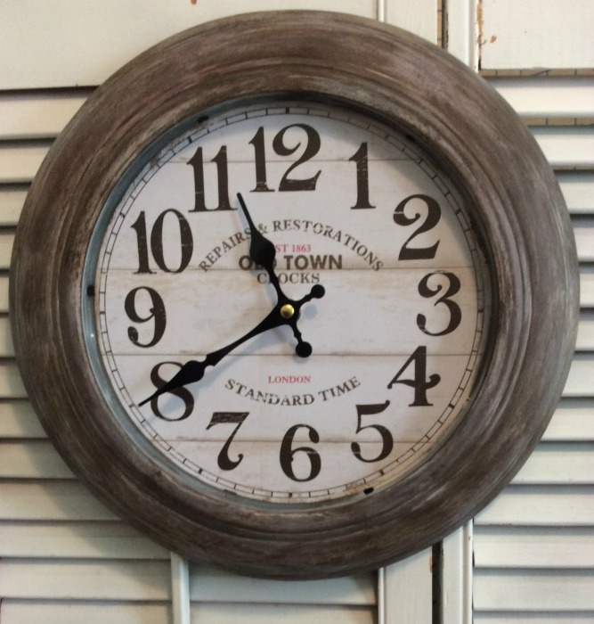 Rustic clock old world style
