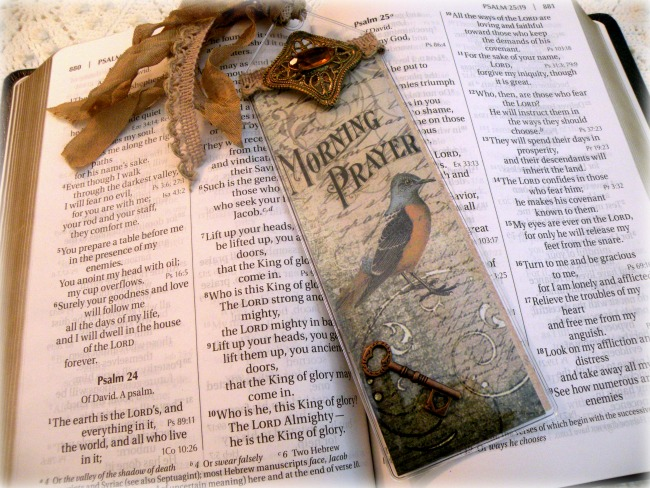 Inspirational Bookmark Morning Prayer