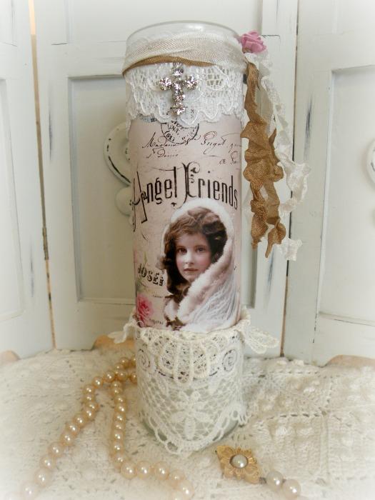 Angel Friends Embellished Prayer Candle