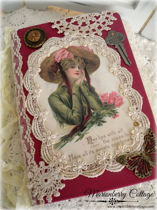 Victorian Romance embellished journal