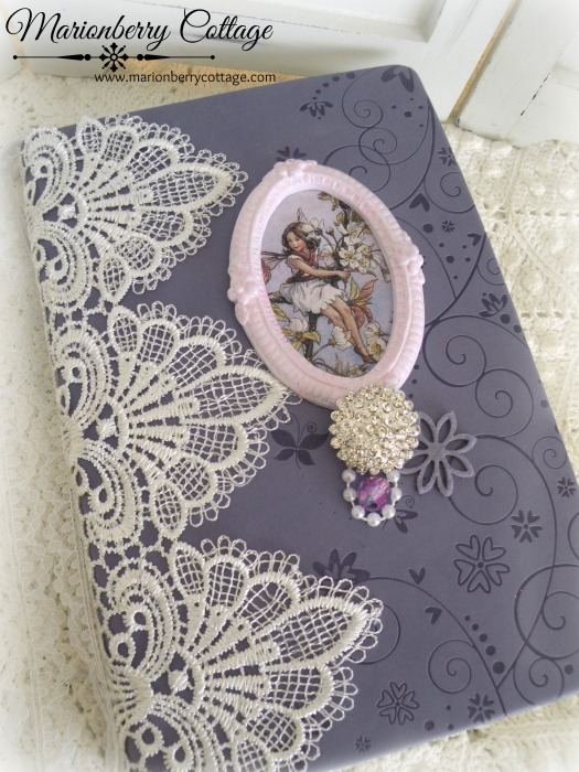 Flower Fairies embellished journal