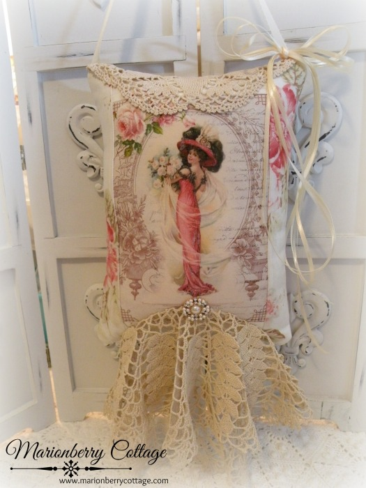 Victorian Lady Keepsake Pillow w/gift tag and sachet