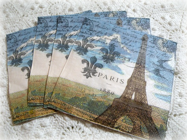 Paris Eifflel tower tea/bverage napkins French Elegance