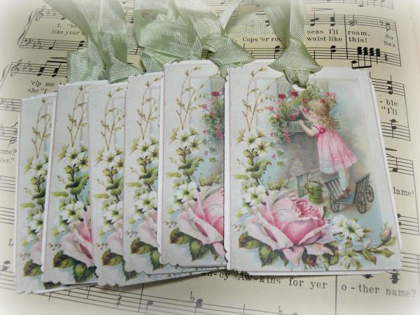 Gift tags Garden Girl