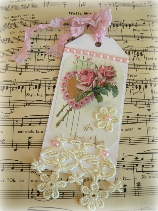 Loads of Love Roses gift tag