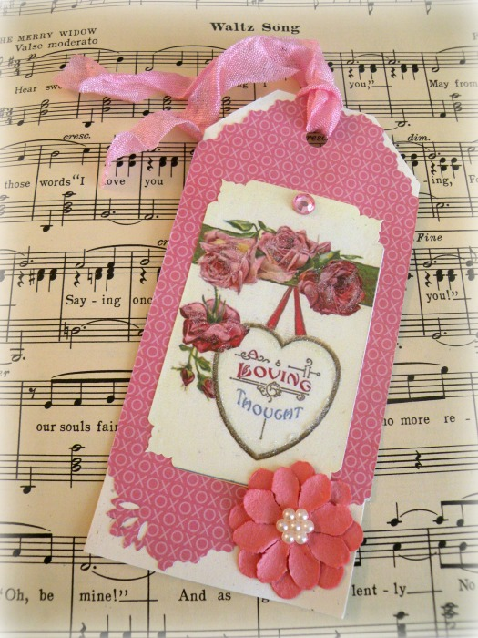 Loving Thoughts gift tag
