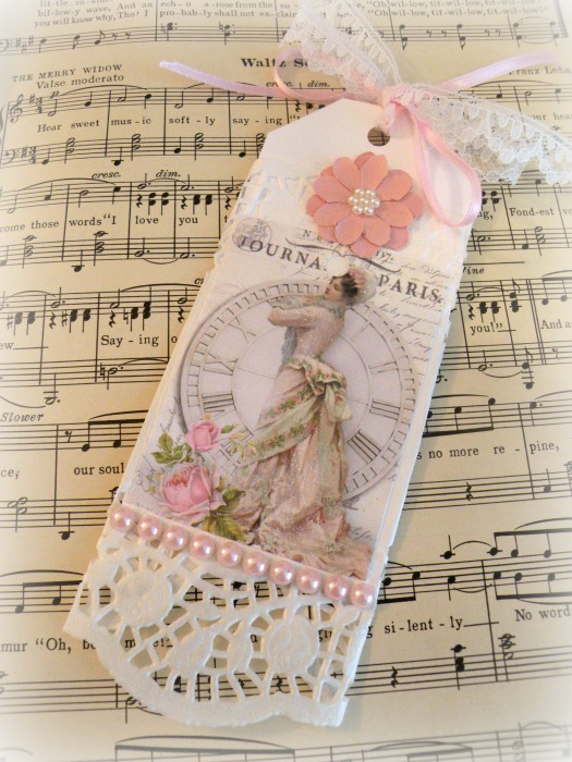 French Journal Gift tag