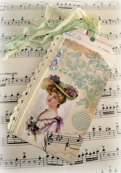 Lady in Lavender Gift tag
