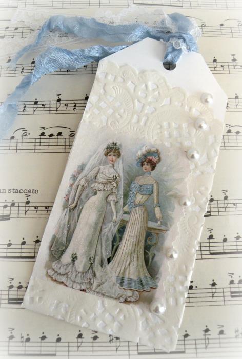 Victorian Bride Gift tag