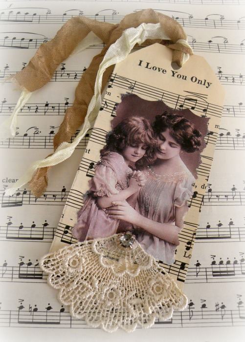 I love you only mother and daughter gift tag