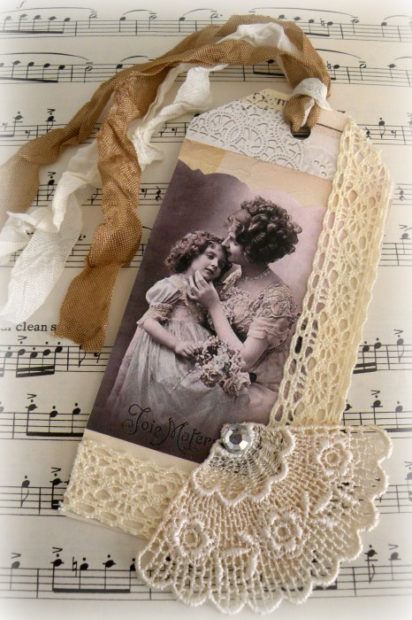 French mother and daughter gift tag