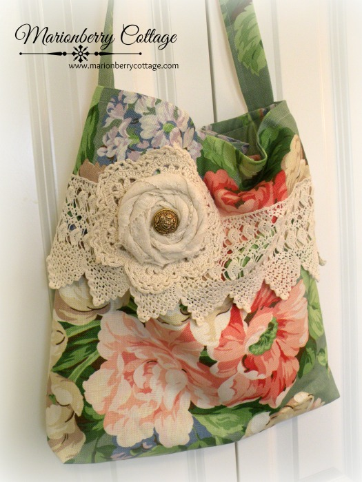 Cabbage Roses Market Tote