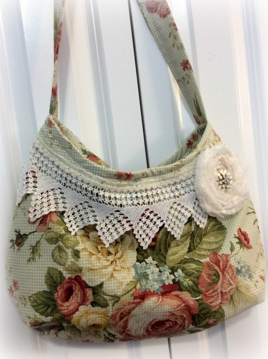 Waverly Harbor House Roses hobo handbag