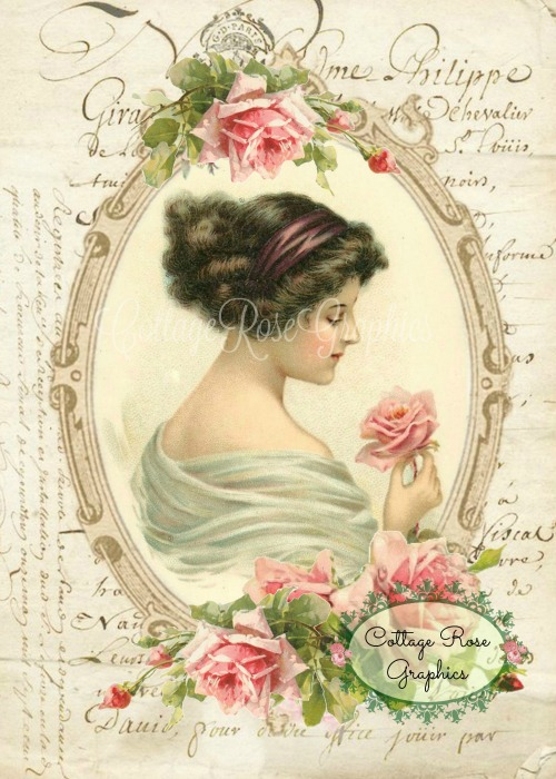Romantic French Rose Lady