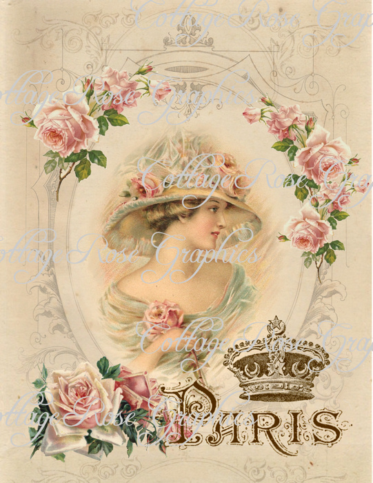 Vintage CHARMED IN PARIS art print