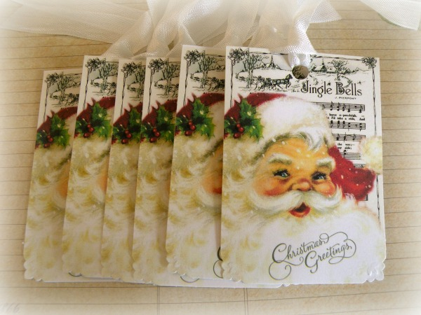 Jingle Bell Santa Gift tags