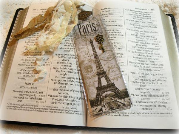 Vintage Paris Bookmark