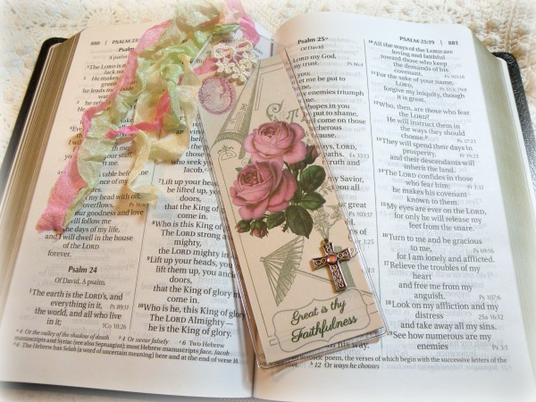 Christian Bible Bookmark Great is thy faithfulness