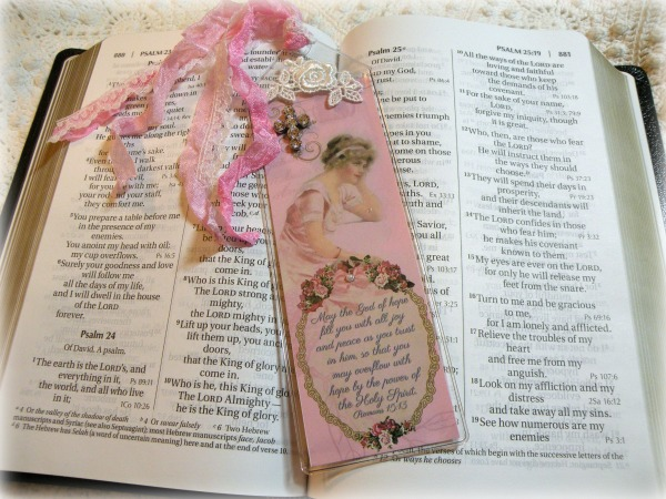 Christian Bible Bookmark May the God of hope