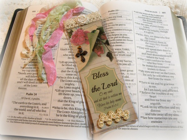 Christian Bible Bookmark Bless the Lord oh my soul