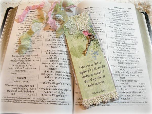 Christian Bible Bookmark Seek the kingdom of God