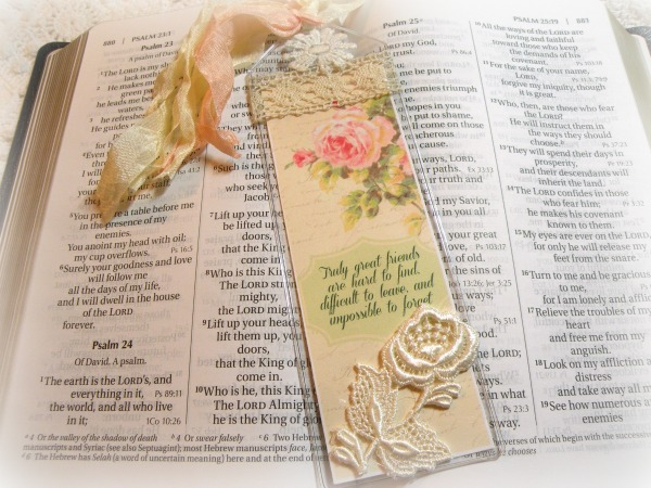 Inspirational Bookmark Truly good friends