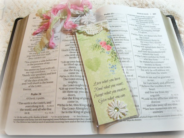 Inspirational Bookmark Love what you have....