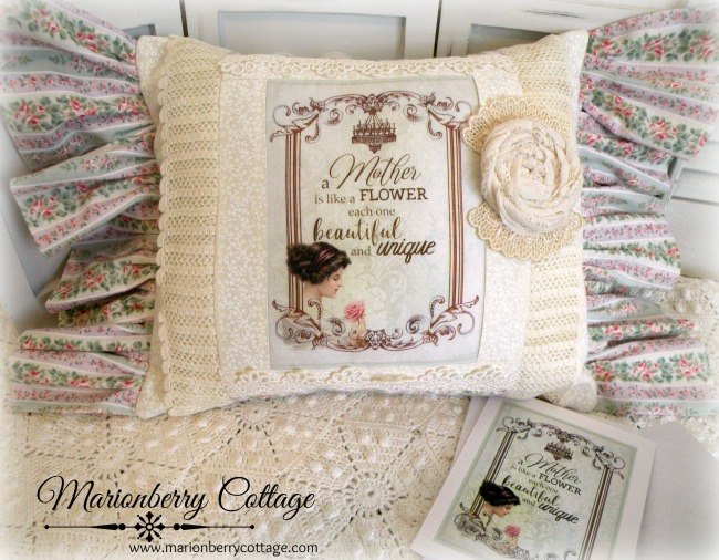 Mother's Day  KEEPSAKE pillow for Mother