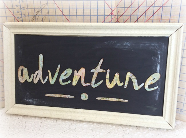 Adventure chalkboard vintage travel wall art