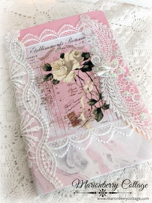 French Script Embellished journal