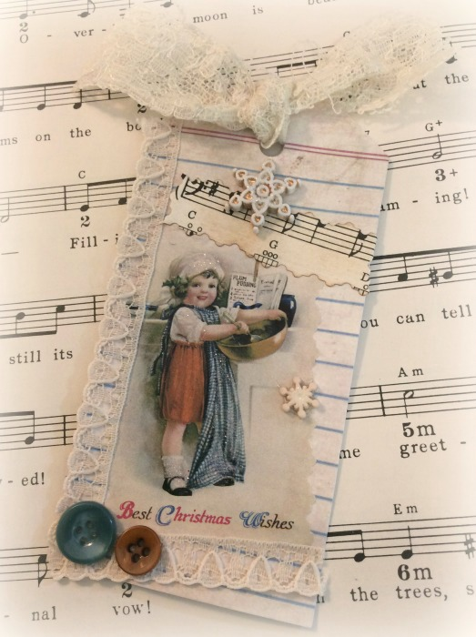 Vintage little baker gift tag